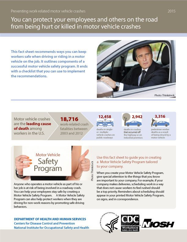 Preventing Work-Related Motor Vehicle Crashes - Fact Sheet