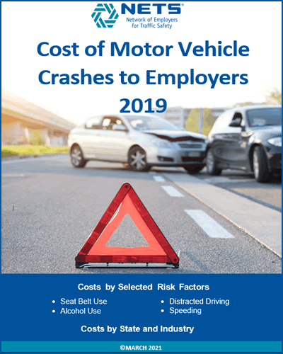 Cost of Motor Vehicle Crashes to Employers 2019 Report Cover